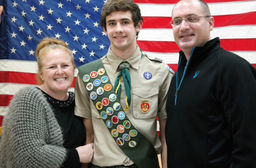 Matthew '19 becomes an Eagle Scout