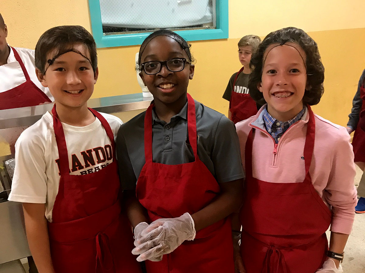 Landon School Middle School community service